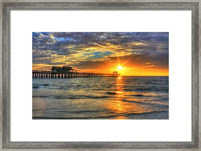 Framed Print featuring the digital art On Fire by Sharon Batdorf