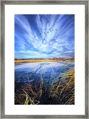 Framed Print featuring the photograph On Frozen Pond by Phil Koch