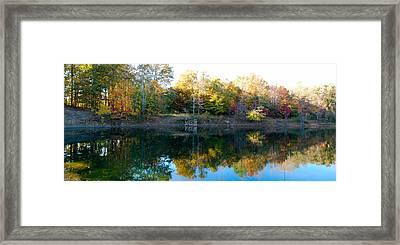 On Gober's Pond Framed Print by Max Mullins