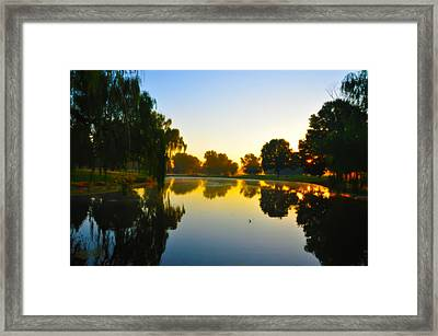 On Golden Pond Framed Print by Bill Cannon