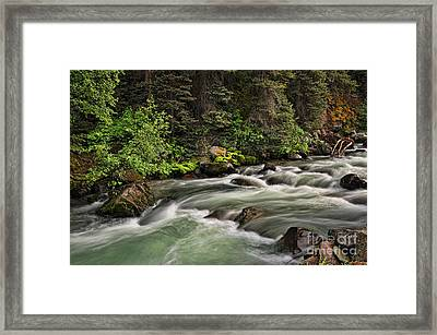 On Henson Creek Framed Print