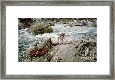 On His Holidays Framed Print