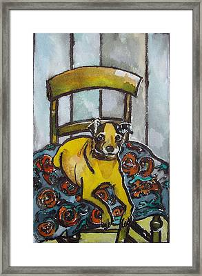 On His Masters Chair Framed Print by Victoria Glover