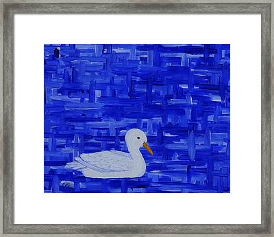 On His Way I Framed Print by Manuel Sueess