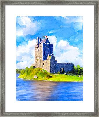On Irish Shores - Dunguaire Castle Framed Print