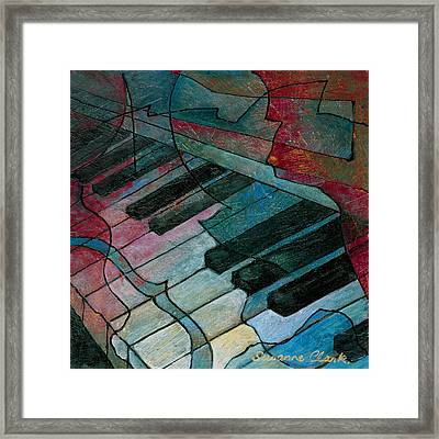 On Key - Keyboard Painting Framed Print by Susanne Clark