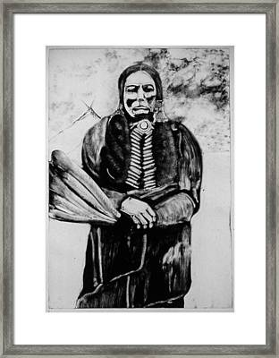 On Kiowa Reservation Framed Print by Dan RiiS Grife