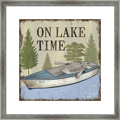 On Lake Time Framed Print by Debbie DeWitt
