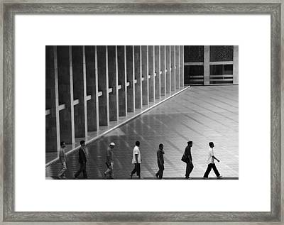 On Lane Framed Print