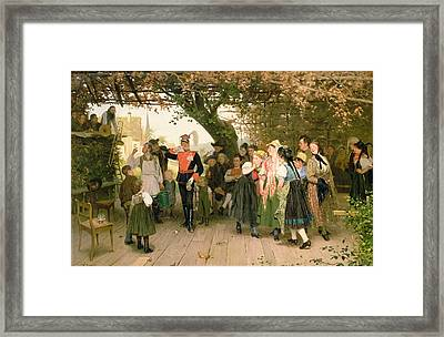 On Leave Framed Print by Wilhelm Zimmer
