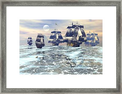 On Maneuvers Framed Print by Claude McCoy