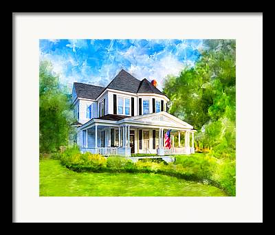 Buildings Of Old Mixed Media Framed Prints