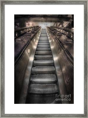 On Metal Monsters We Ride Framed Print