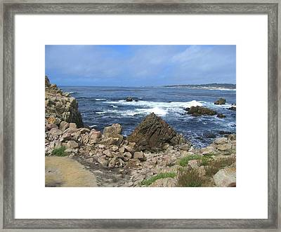 Framed Print featuring the photograph On Monterey Bay Near Pebble Beach by Don Struke