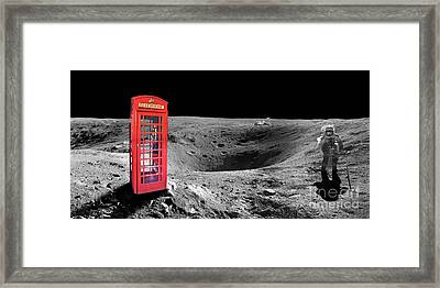 On Moon Framed Print by Delphimages Photo Creations