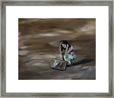 On My Own Framed Print by Leslie Allen