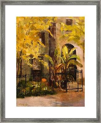 On Orleans In Old Town  Framed Print by Nancy Albrecht