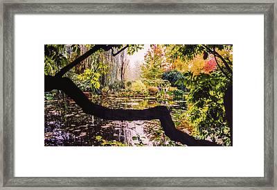 On Oscar - Claude Monet's Garden Pond  Framed Print