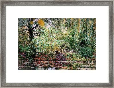 Reflection On, Oscar - Claude Monet's Garden Pond Framed Print