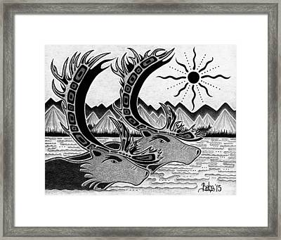 On Path Framed Print