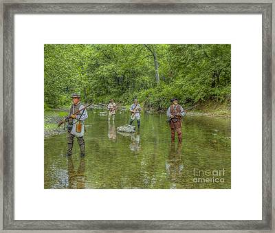 On Patrol With Wulff's Rangers Junita Crossing Framed Print by Randy Steele