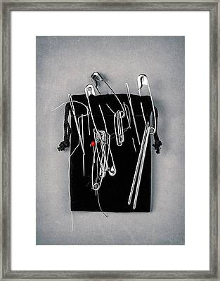 On Pins And Needles Framed Print