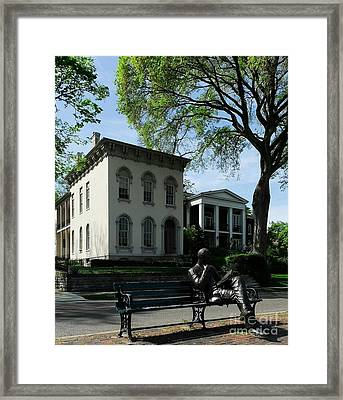 On Riverside Drive Framed Print by Mel Steinhauer