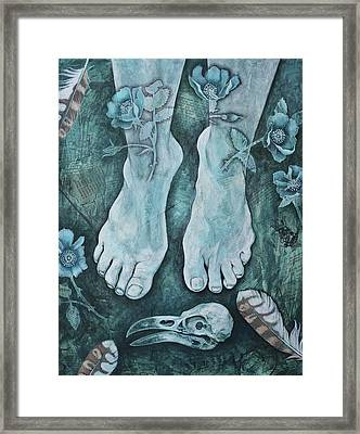 Framed Print featuring the mixed media On Sacred Ground by Sheri Howe