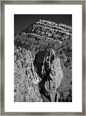 On Sandia Mountain Framed Print
