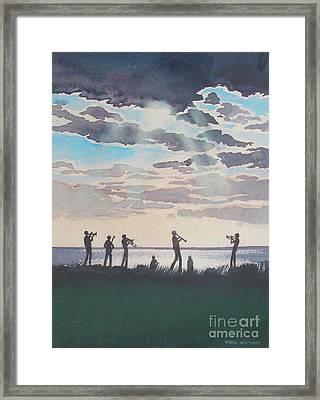 On Shore Jazz Framed Print