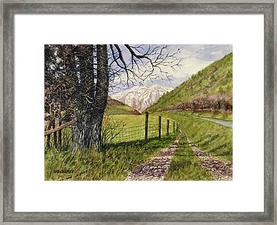 On South Fork Road Framed Print by Don Bosley