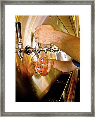 Framed Print featuring the photograph On Tap by Linda Unger