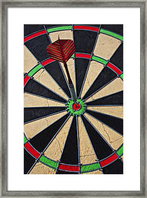 On Target Bullseye Framed Print