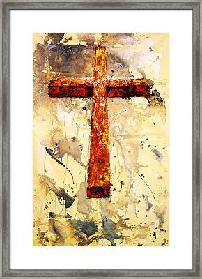 On That Old Rugged Cross Framed Print