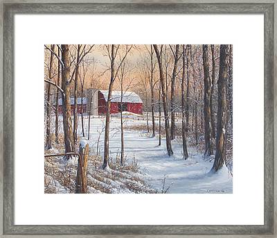 On That Snowy Morn Framed Print