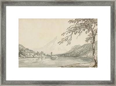 On The Aar Between Unterseen And Lake Of Brienz  Framed Print by Joseph Mallord William Turner