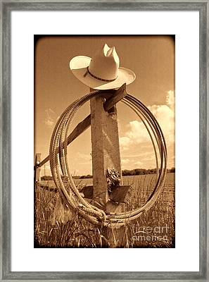 On The American Ranch Framed Print