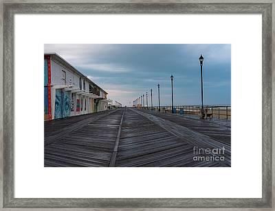 On The Asbury Park Boardwalk  Framed Print by Joe Benning