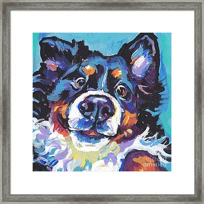 On The Back Berner Framed Print by Lea S