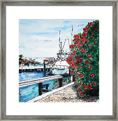 On The Back Porch Framed Print by Neva Rossi
