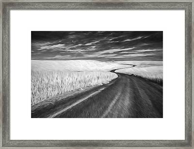 On The Back Road II Framed Print