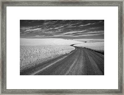 On The Back Road Framed Print