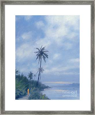 On The Backwaters Framed Print