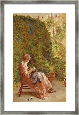 On The Balcony Framed Print by Henry Thomas Schafer