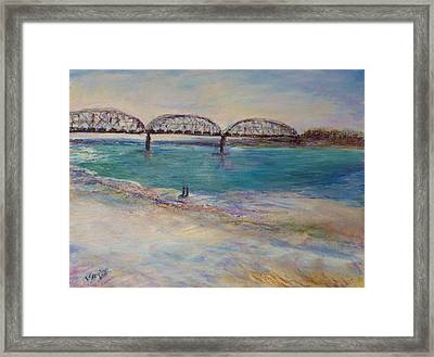 On The Bank Framed Print by Helen Campbell