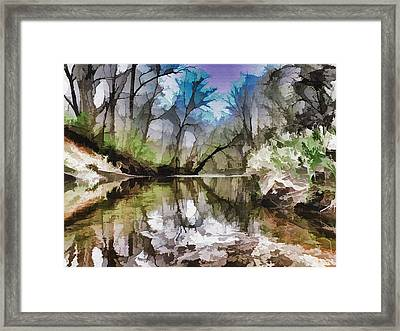 On The Bank Framed Print by Tom Druin