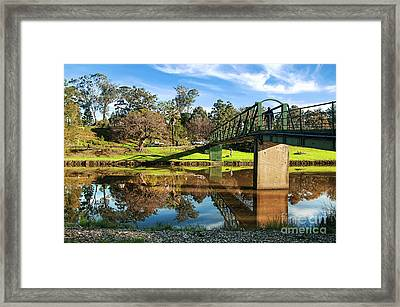 Framed Print featuring the photograph On The Banks Of The River By Kaye Menner by Kaye Menner