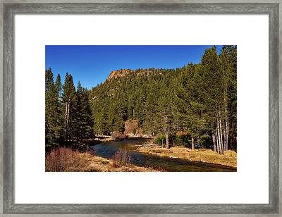 On The Banks Of The Truckee River Framed Print by Mountain Dreams