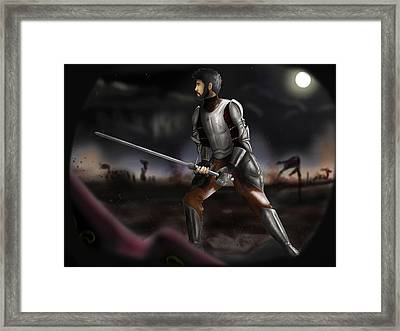 On The Battlefield - Colored Version Framed Print