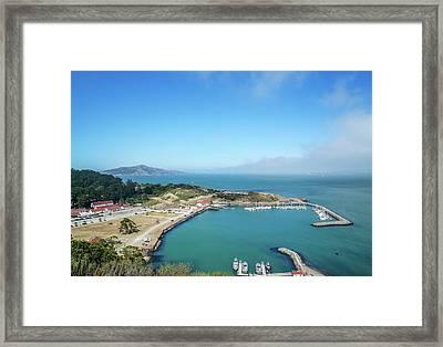On The Bay Framed Print